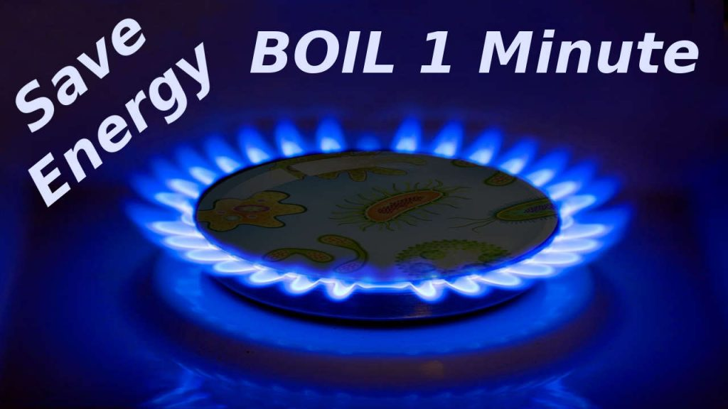 Boil Drinking Water 1 Minute
