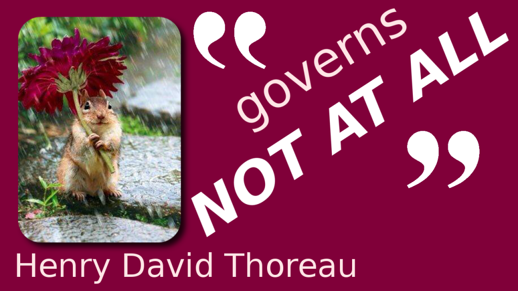 thoreau governs least