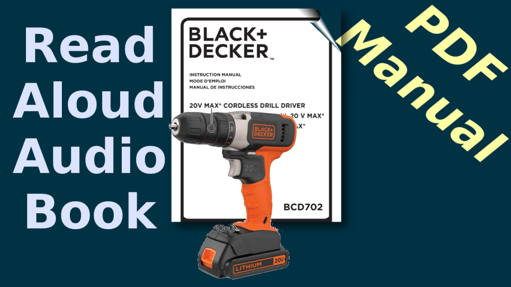 PDF Manual Black+Decker BCD702Drill